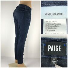 Paige Verdugo Ankle 32 X 28 Jeans Made In USA Cotton Blend Knott
