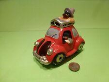 VINTAGE MONEY BOX VW VOLKSWAGEN BEETLE KAFER - RED  L14.0cm - GOOD CONDITION