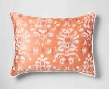 Target Opal House Collection IKAT Tufted Velvet Pillow Sham Coral,  Standard
