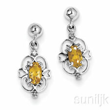 Joyería de plata de ley citrino diamante