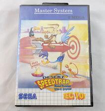 DESERT SPEEDTRAP Road Runner (Sega Master System) Sealed CIB Brazil TecToy