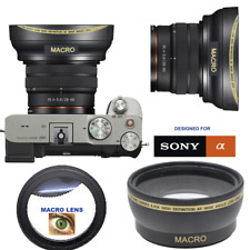 HD ULTRA WIDE ANGLE LENS FOR Sony Alpha a7C Mirrorless  Camera with 28-60mm Lens