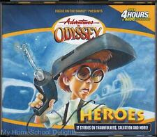 NEW Adventures in Odyssey #3 HEROES Secrets Surprises Sensational Stories 4 CD