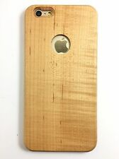 """Chitarra legno IPHONE 6/6S legno acero 5.5"""" PLUS CUSTODIA SLIM (Legno Pulsanti) VERO LEGNO"""