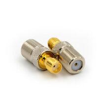 F hembra Jack a SMA hembra Jack recta coaxial conector adaptador RF