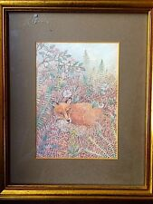 Original drawing of a fox. Framed. Stunning quality & imagination.