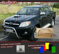 TOYOTA HILUX 2006-2012 BULL BAR, NUDGE BAR, A BAR + GRATIS!!! STAINLESS STEEL