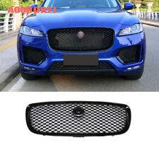Glossy Black fit for Jaguar F-PACE 2016-2020 Front bumper grill grill trim 1pcs