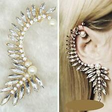 Ear Cuff Ohrklemme Perle Ohrstecker Ohrring Ohrschmuck Wrap Strass Libelle Luxus