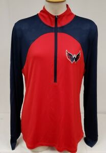 Brand New NHL Washington Capitals Fanatics Women's Half-Zip Sweatshirt