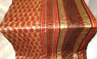 Pure silk Antique Vintage Sari HUCE LOT 4y T19 284 Cream Maroon DECOR #ABDFJ