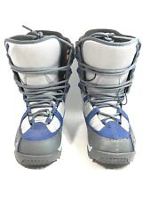 "Men's 7 K2 Snowboarding Boots ""Range"" Gray & Blue Mammoth Snowboard Skiing Sled"