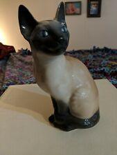 """Vtg Royal Copenhagen Porcelain Figurine Siamese Cat #3281 Rare 7.75"""" Tall"""