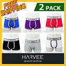 2 Pack HARVEE Mens Men Underwear CK-365A Style Trunk Cotton Boxer Comfy Undies