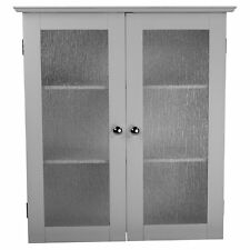 Elegant Home Fashions Connor 2 Door Wall Cabinet, White