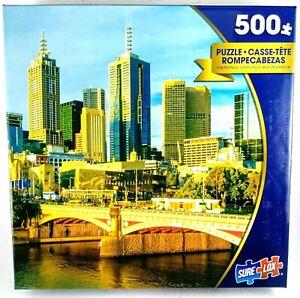 MELBOURNE Australia 500 Pce Puzzle Suit 12+ years 48.26 cm x 33.02 cm NEW!