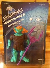 Silverhawks Windhammer with Tuning Fork Kenner Silver Hawks 1987 80's Unpunched!
