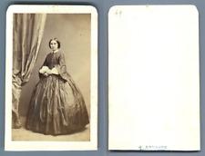 J. Arnaude, Marseille, Mademoiselle Marie de Campon  CDV vintage albumen carte d
