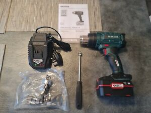PARKSIDE 20V CORDLESS HOT AIR GUN 4amp battery🔋& Charger 3year warranty invoice