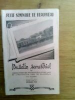 BULLETIN TRIMESTRIEL PETIT SEMINAIRE DE BEAUPREAU N°1 1952