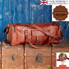 Bag Leather Duffle Men Travel Genuine Gym Luggage Overnight Vintage Mens Weekend