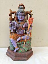Vintage Hindu God Shiva Sculpture Statue Siva Natraj Temple Figurine Idol Rare
