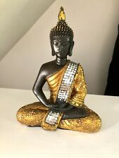 Sitting Buddha Gold Silver Bronze Jewelled Indoor Statue Ornament Thai