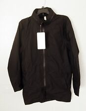 Lululemon ENTRENCHMENT JACKET Hooded Trench Coat Black Waterproof Size SMALL