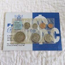 Nueva Zelanda 1967 7 moneda espécimen pulido año estándar conjunto-todavía sellado de menta