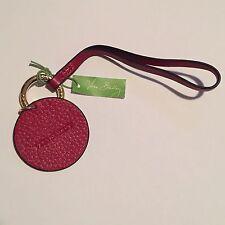 NWT Vera Bradley Charming Circle Bag Charm Sycamore Tango Red