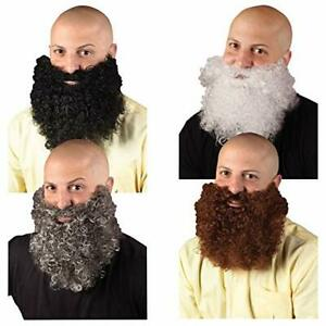 Beard Curly Synthetic Hair Beard/Mustache Costume Disguise Assorted Colors