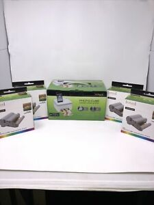 New VuPoint Photo Cube Compact Photo Printer Plus 4 Color Cartridges Bundle