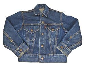 Vintage Levis Type 3 III 70505? Denim Trucker Jacket Big E Rare Kids Toddler Sz