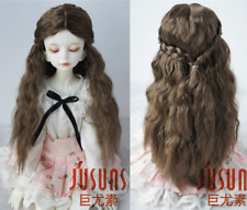 "7-8"" Long Princess Curly Doll Wig MSD 1/4 Syhthetic Mohair BJD Wigs 5 colros"