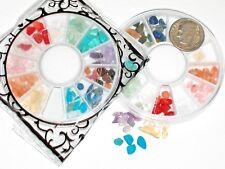 60pc+ Lot rainbow Mix gem stone Wheel for bottle case vial craft Kit 2-6mm wheel