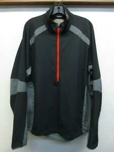 EUC REI Black Red Gray 1/2 Zip Polyester Softshell Pullover Windbreaker Size XL
