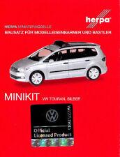 "HERPA MiniKit 1:87 PKW ""VOLKSWAGEN"" VW TOURAN Warnbalken, silber Bausatz #013048"