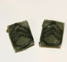 Original In-Country Vietnam Made US Army Staff Sergeant Collar Rank Patches