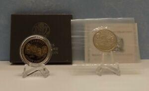 2 Mount Rushmore Commemorative Coins -- 50C half dollar Proof + Business Strikes