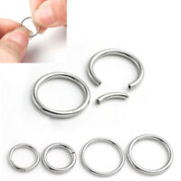 New 16G 14G Steel Hinged Clicker Septum Segment Hoop Ring Ear Lip Nose