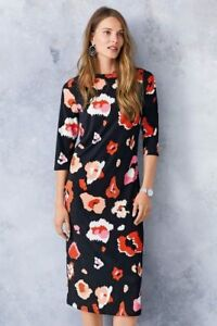 NEXT Black Abstract Animal Printed Dress - Size UK10 , BNWT