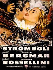 Movie Film Stromboli Bergman Rossellini Volcano Disaster Canvas Print