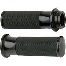 Arlen Ness Fusion Black Smoothie Hand Grips Harley Dual Cable Throttle Models