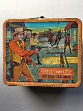 1959 Gunsmoke U.S. Marshall Misspelled Typo Rare-8 Double LL Vintage Lunch Pail.