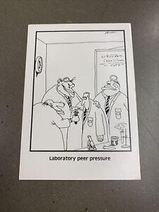 "The Far Side Gary Larson Postcard Laboratory Peer Pressure Science 1984 4"" x 6"""
