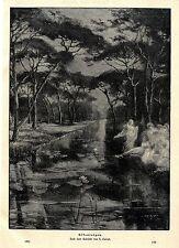 H. CAIRATI Elfes ronde See-paysagères-Motif histor. Pression de 1901