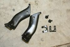 78-87 G BODY SET OF FRONT DISC BRAKE HOSE BRACKETS CLEANED USED PAIR