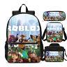 Roblox Kids Backpack School Bag Set Game Boys Lunch Bag Pencil Case Lot Gift