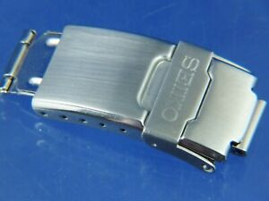 Seiko Watch Deployment Bracelet Buckle & Catch ... 1990s S Wave 18mm Fitting