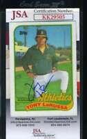 Tony Larussa JSA Coa Autograph 1989 Topps A`s Signed